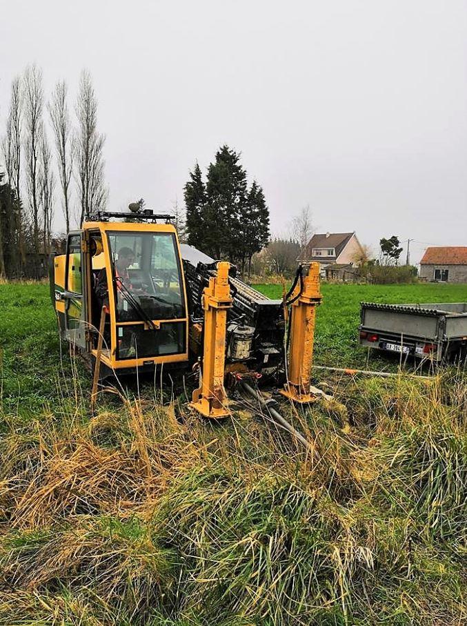 chantier en cours - forage dirigé
